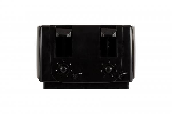 Prajitor de paine 4 felii, 7 grade de prajire 1300W, oprire automata, functie stop, negru 1