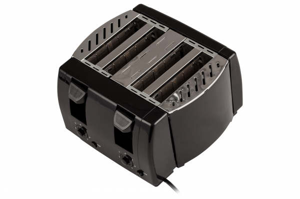 Prajitor de paine 4 felii, 7 grade de prajire 1300W, oprire automata, functie stop, negru 3