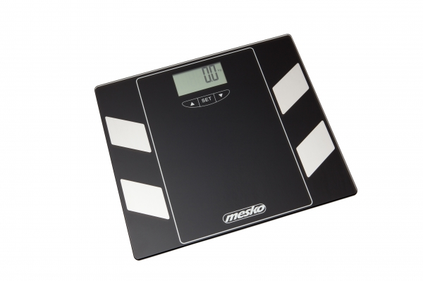 Cantar electronic de persoane, masurare indice grasime, masa musculara, osoasa, ecran LCD, sticla securizata, negru,150 kg max, oprire automata 2