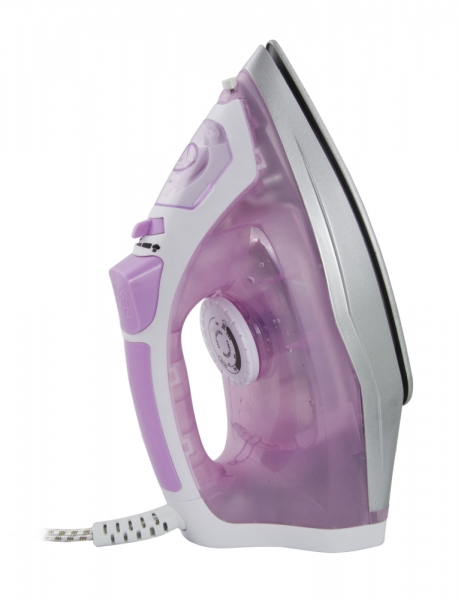 Set fier de calcat si aspirator scame, talpa ceramica , 2400W, abur reglabil, auto-curatare, anti-calcar, anti-picurare, calcare verticala, roz 3