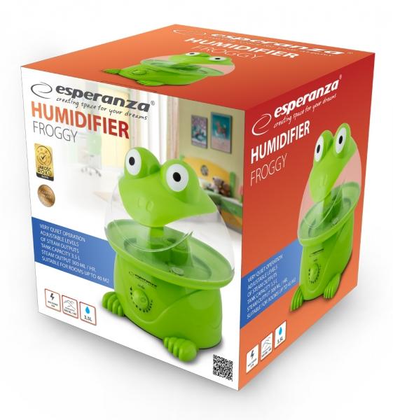 Umidificator aer Froggy capacitate 3.5l , 3 trepte, oprire automata, silentios, 12h functionare continua, pana la 40mp 1