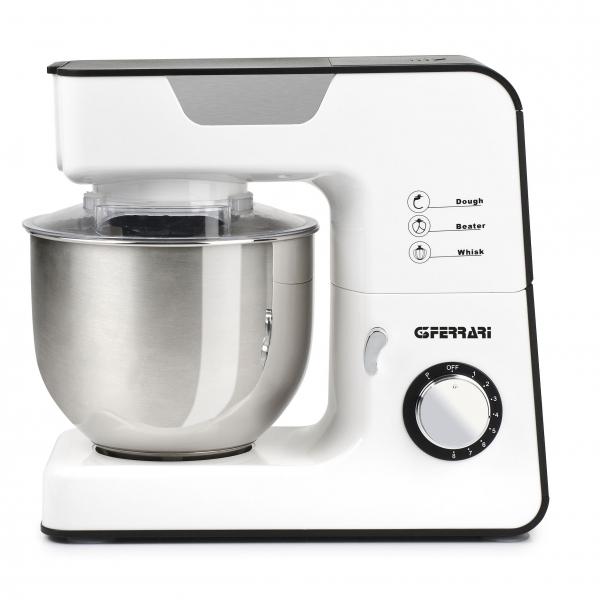 Mixer cu bol din otel inoxidabil PastaOK cu performante profesionale 8 viteze + functie Pulse, vas 5.2l, 1300W, alb 0