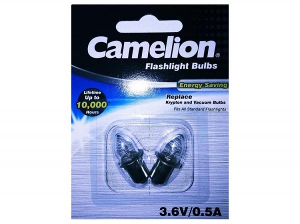 Bec Vacuum pentru Lanterne, 3.6V 0.5A  Blister de 2buc, Camelion 0