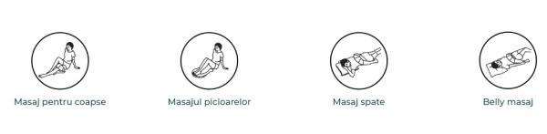 Guler multifunctional masaj Taiko CF-1007, multiple moduri de masaj si intensitati, 40 x 31,5 x 16 cm, bej 4