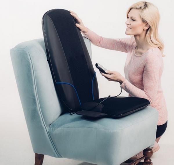 Saltea masaj Shiatsu cu incalzire si rotatii, acoperire 3 zone corporale, 3 trepte viteza, 10 programe, timer integrat, actionare usoara cu telecomanda 2