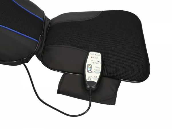 Saltea masaj Shiatsu cu incalzire si rotatii, acoperire 3 zone corporale, 3 trepte viteza, 10 programe, timer integrat, actionare usoara cu telecomanda 5