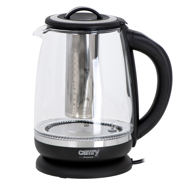 Cana electrica cu reglare temperatura 60-100 ° C si filtru ceai Camry 2l 2
