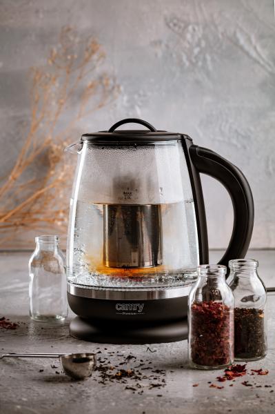 Cana electrica cu reglare temperatura 60-100 ° C si filtru ceai Camry 2l 1