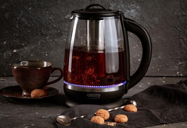 Cana electrica cu reglare temperatura 60-100 ° C si filtru ceai Camry 2l 10