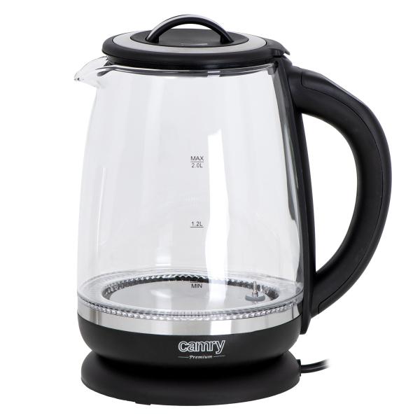 Cana electrica cu reglare temperatura 60-100 ° C si filtru ceai Camry 2l 3