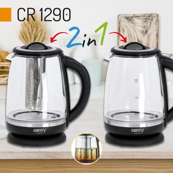 Cana electrica cu reglare temperatura 60-100 ° C si filtru ceai Camry 2l 0