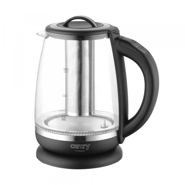Cana electrica cu reglare temperatura 60-100 ° C si filtru ceai Camry 2l 12