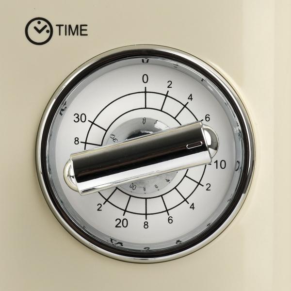 Cuptor cu microunde Girmi retro vintage, 20l, 700W, timer, grill, cream 2
