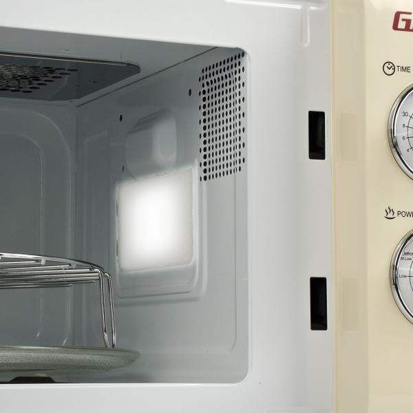 Cuptor cu microunde Girmi retro vintage, 20l, 700W, timer, grill, cream 3
