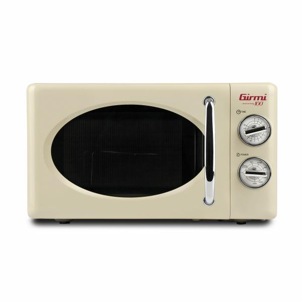 Cuptor cu microunde Girmi retro vintage, 20l, 700W, timer, grill, cream 0