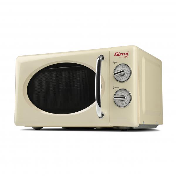 Cuptor cu microunde Girmi retro vintage, 20l, 700W, timer, grill, cream 1