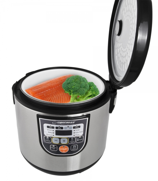 Multicooker din inox cuva 5L, panou comanda digitala smart cu 11 functii presetate sau programabile 2