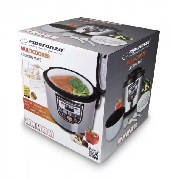 Multicooker din inox cuva 5L, panou comanda digitala smart cu 11 functii presetate sau programabile 4