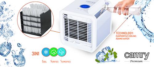 Racitor aer 3 in 1 cu racire, purificare si umidificare, lumina LED 7 culori, silentios, alimentare USB [8]