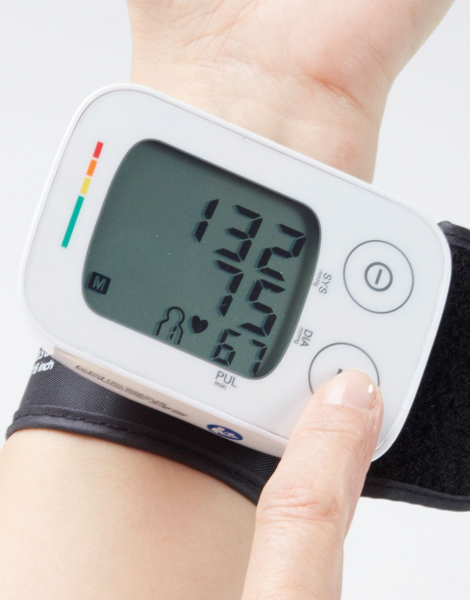 Tensiometru de incheietura Lanaform masuratori precise, total automatizat, ecran LCD, functie de monitorizare a tensiunii arteriale si a ritmului cardiac, memorie masuratori, portabil 1