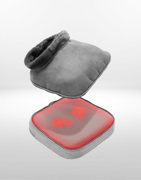 Aparat de masaj 2 in 1 Shiatsu Comfort si incalzire, 4 capete rotative, directie de rotatie dubla, 2 niveluri incalzire si vibratii, functie oprire automata 4