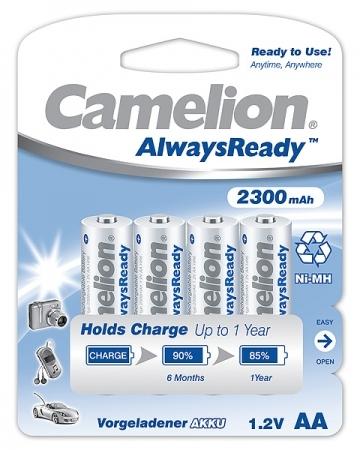 Acumulatori  R06, 2300 mAh, blister de 4 buc , Always Ready, Gata Incarcati Brand Camelion  fara efect de memorie la incarcare 0