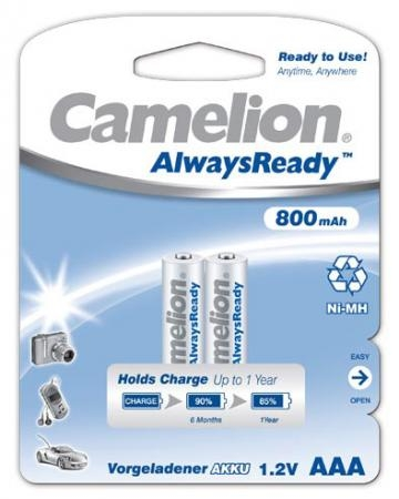 Acumulatori Camelion R03 800 mAh blister de 2 buc -Always Ready 0