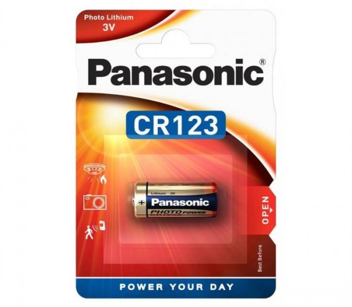 Baterie Panasonic Lithium CR123A, 3V, 1 Bucata 0