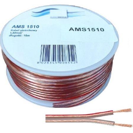 Cablu boxe 20m si difuzoare bifilar flexibil din cupru, izolatie transparenta fara ecranaj, cu protectie la forfecare si torsionare 0