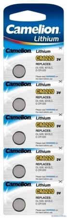 Baterii Lithium cu durata lunga de viata Camelion CR1220, vanzare la  Blister de 5 bucati pentru alarme si alte dispozitive electronice [0]