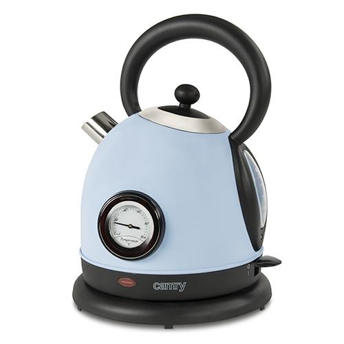Cana electrica cu termometru Vintage MECR1252B 1,8 L 2200W culoare bleu azur 0