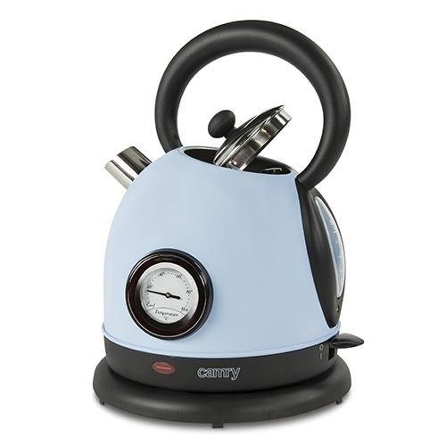 Cana electrica cu termometru Vintage MECR1252B 1,8 L 2200W culoare bleu azur 3