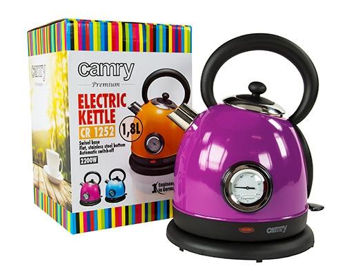 Cana electrica cu termometru Vintage MECR1252v 1,8 L 2200W culoare violet 7