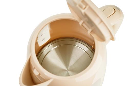 Cana fierbator 2200W, 1.7L , oprire automata, protectie supraincalzire, rotatie 360 culoare crem cafea cu lapte 2