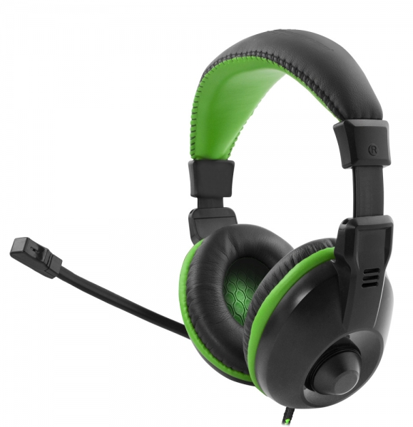 Casti cu microfon Esperanza Albatros Verde pentru gaming conexiune jack 2 x  3.5 separat microfon si separat casca 2