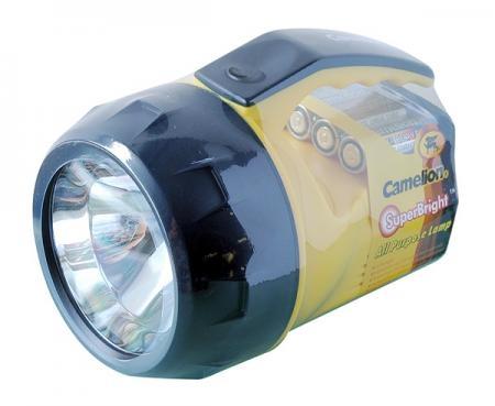 Lanterna cu bec Krypton, luminozitate mare, pentru folosire in interior sau exterior, include 3 baterii AA, CM4AA01, HomeBright, Camelion, Plastic 0
