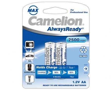 Acumulatori  R06, 2500 mAh, blister de 2 buc, Always Ready, Gata Incarcati, Brand Camelion Germania incarcare fara efect de memorie de pana la 1000 de reancarcari 0