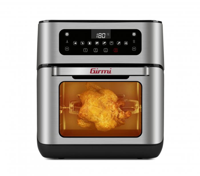 Cuptor cu aer cald multifunctional Girmi Genio FG96 cu 9 programe, ecran digital, 11L, accesorii, timer si reglare temperatura [0]