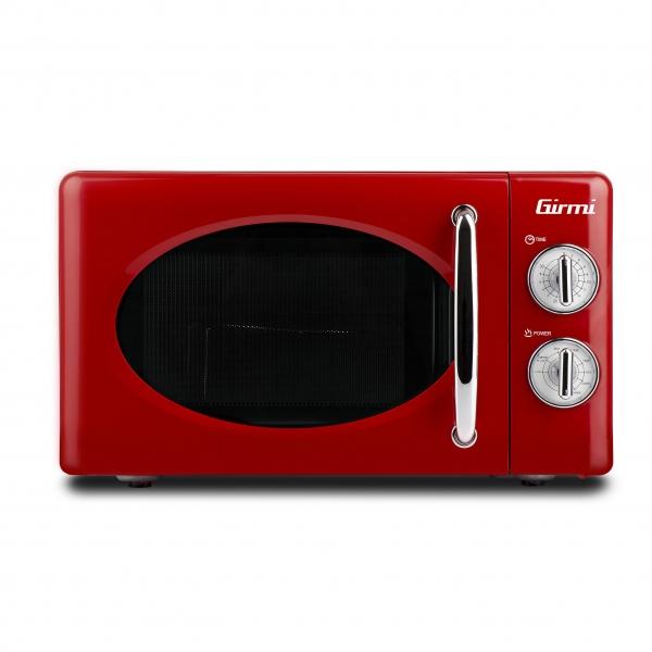 Cuptor cu microunde Girmi retro vintage, 20l, 700W, timer, grill, rosu [0]
