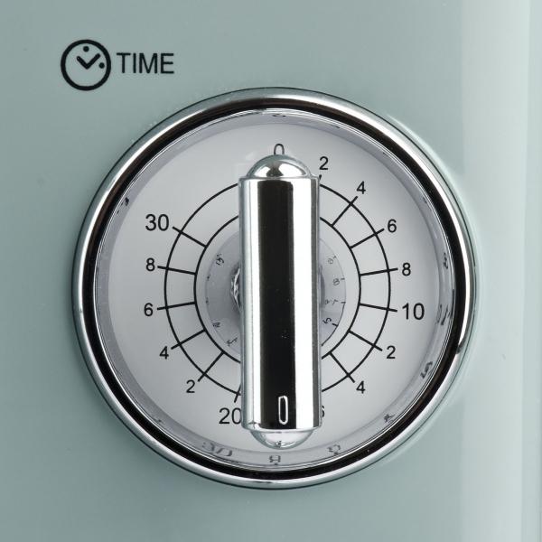 Cuptor cu microunde Girmi retro vintage, 20l, 700W, timer, grill, verde 4