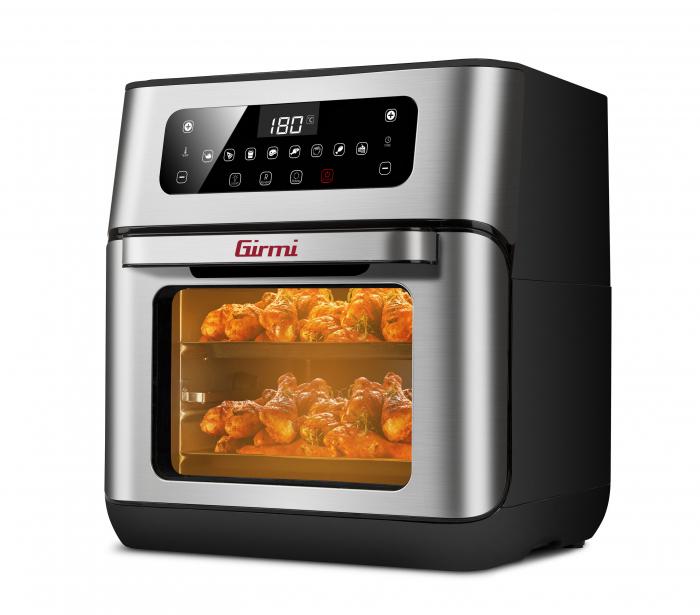 Cuptor cu aer cald multifunctional Girmi Genio FG96 cu 9 programe, ecran digital, 11L, accesorii, timer si reglare temperatura [5]