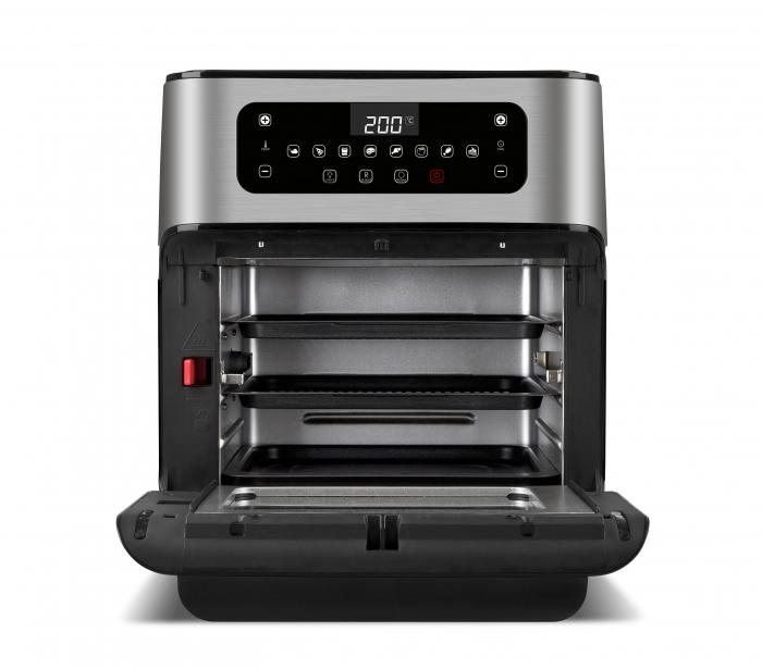 Cuptor cu aer cald multifunctional Girmi Genio FG96 cu 9 programe, ecran digital, 11L, accesorii, timer si reglare temperatura [6]