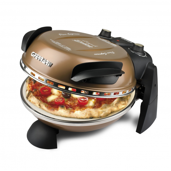 Cuptor pizza G3Ferrari Delizia aramiu special cu suprafata de coacere din piatra refractara, termoregulator pana la 400° C si timer cu atentionare sonora [0]