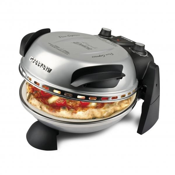 Cuptor pizza G3Ferrari Delizia Silver special cu suprafata de coacere din piatra refractara, termoregulator pana la 400° C si timer cu atentionare sonora 0