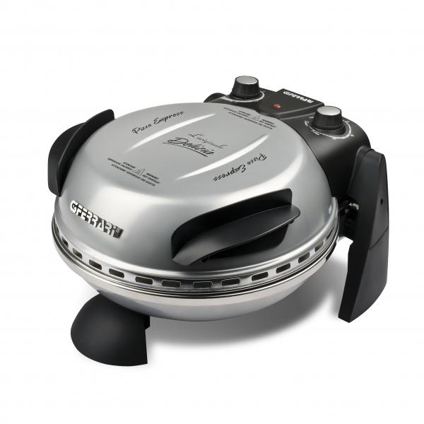 Cuptor pizza G3Ferrari Delizia Silver special cu suprafata de coacere din piatra refractara, termoregulator pana la 400° C si timer cu atentionare sonora 4