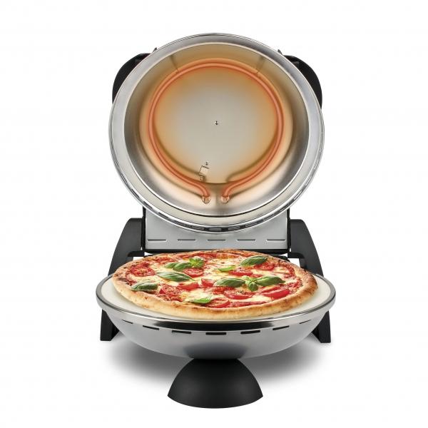 Cuptor pizza G3Ferrari Delizia Silver special cu suprafata de coacere din piatra refractara, termoregulator pana la 400° C si timer cu atentionare sonora 3