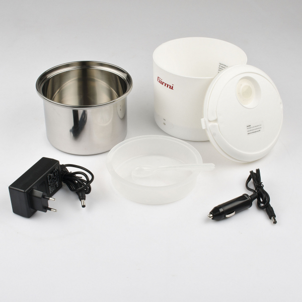 Cutie electrica pentru pranz  Girmi SC02, recipient otel inoxidabil 0.7l, alimentare priza si auto 4