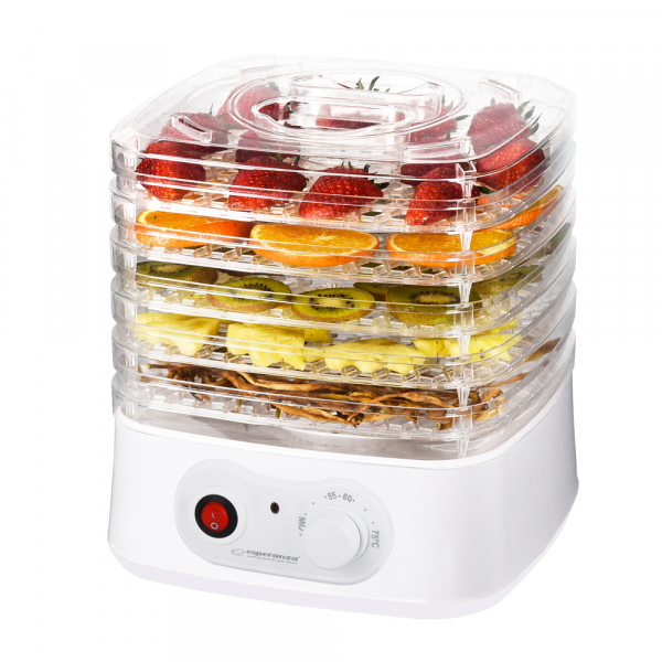 Deshidrator fructe si legume, plante, flori, 4 tavi, design modern 250W 0