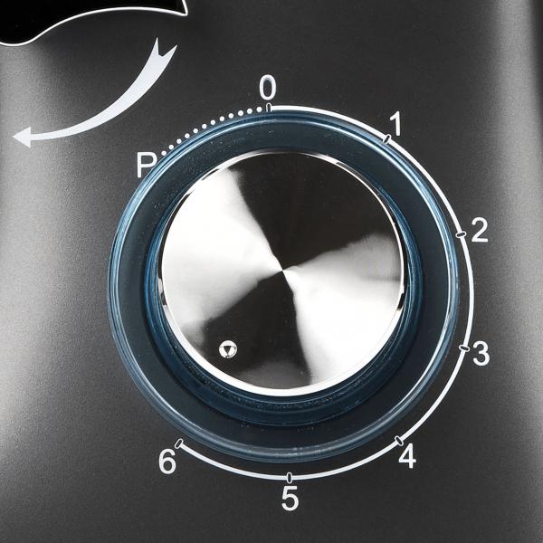 Mixer cu bol din otel inoxidabil Girmi Gastronomo cu performante profesionale 6 viteze + functie Pulse, vas 8l, 1400W, negru 5