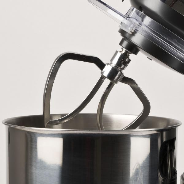 Mixer cu bol din otel inoxidabil Girmi Gastronomo cu performante profesionale 6 viteze + functie Pulse, vas 8l, 1400W, negru 3